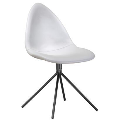 FMI10194-WHITE Fine Mod Imports Tripod Dining Chair in White