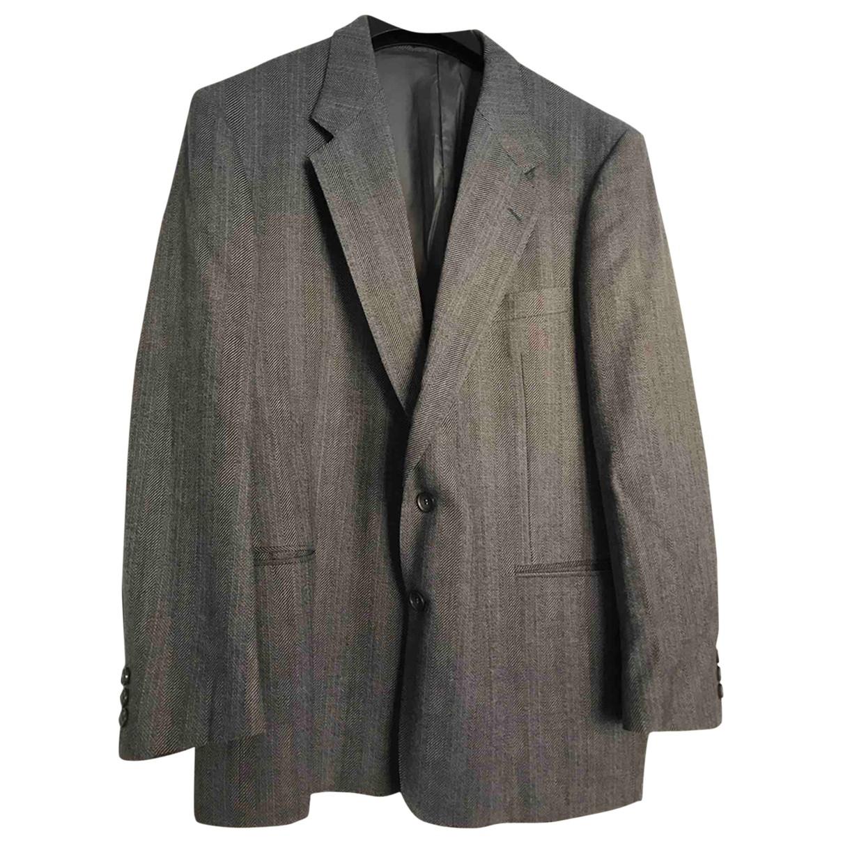 Yves Saint Laurent \N Jacke in  Grau Wolle