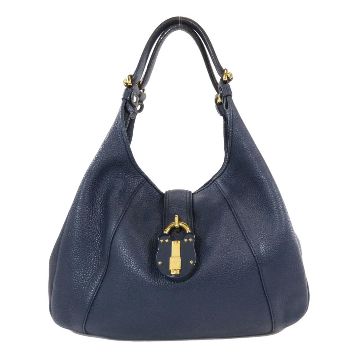 Loewe \N Handtasche in  Blau Leder