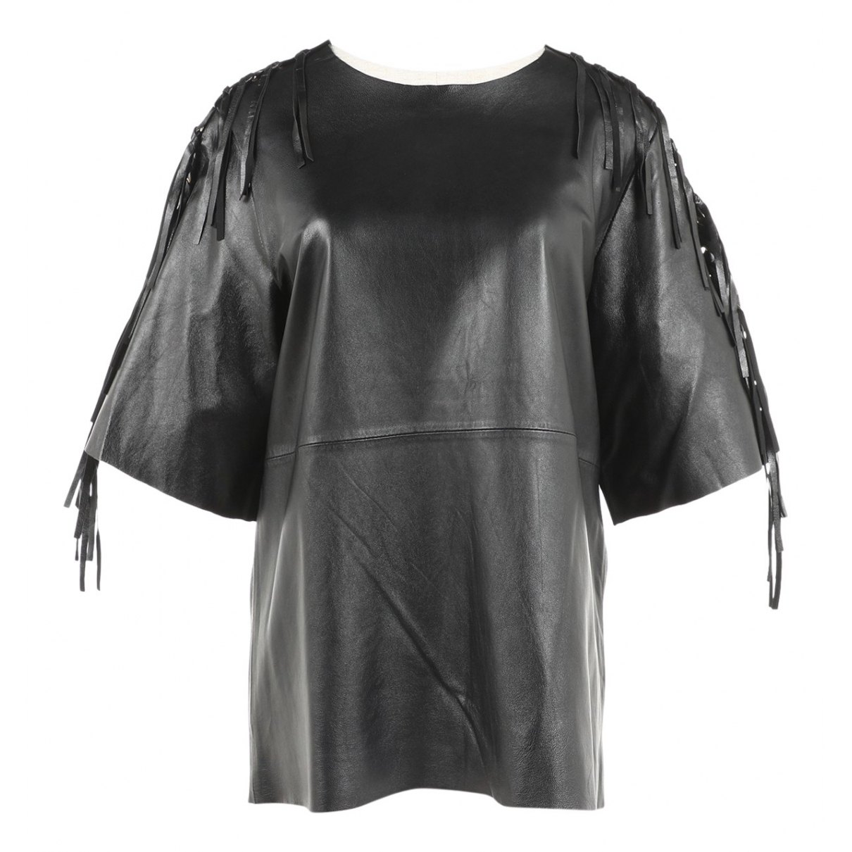 Non Signé / Unsigned \N Black Leather  top for Women S International