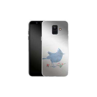 Samsung Galaxy A6 Silikon Handyhuelle - Watercolour Bird White von caseable Designs