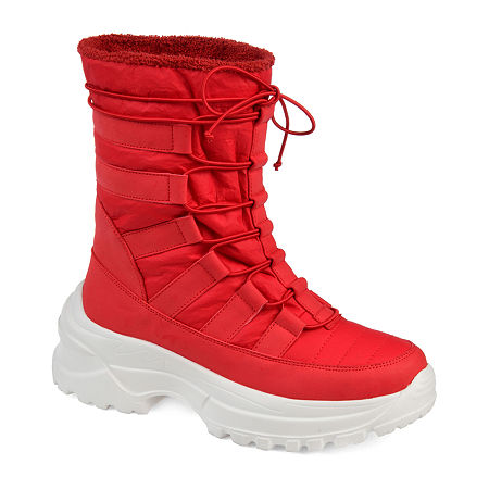 Journee Collection Womens Icey Winter Boots, 9 Medium, Red