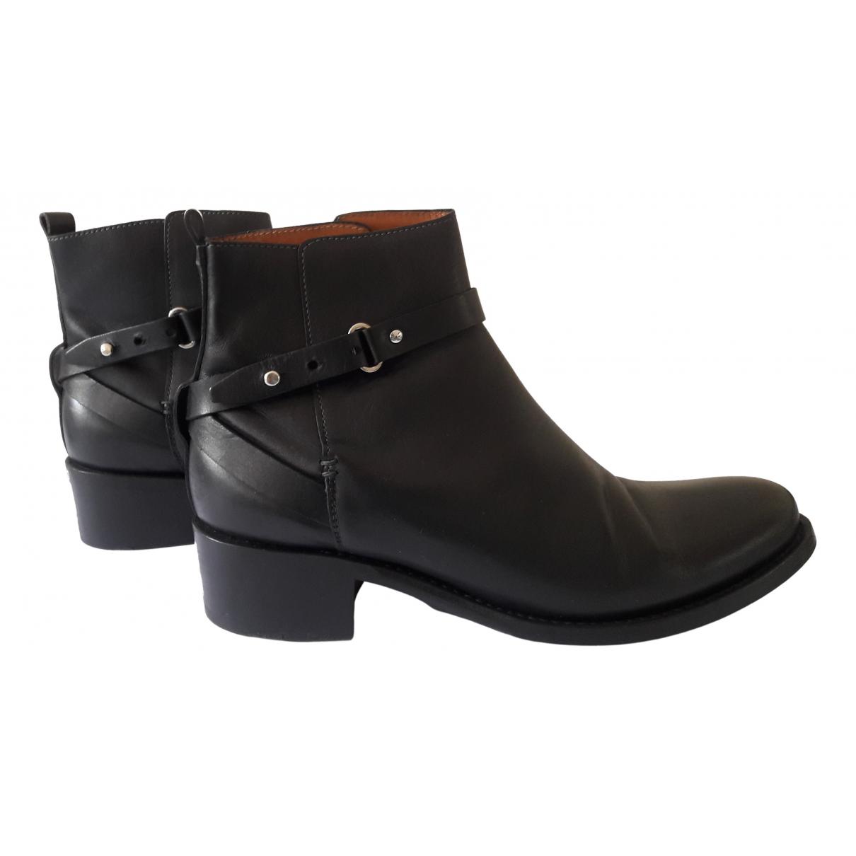 Heschung \N Stiefeletten in  Schwarz Leder