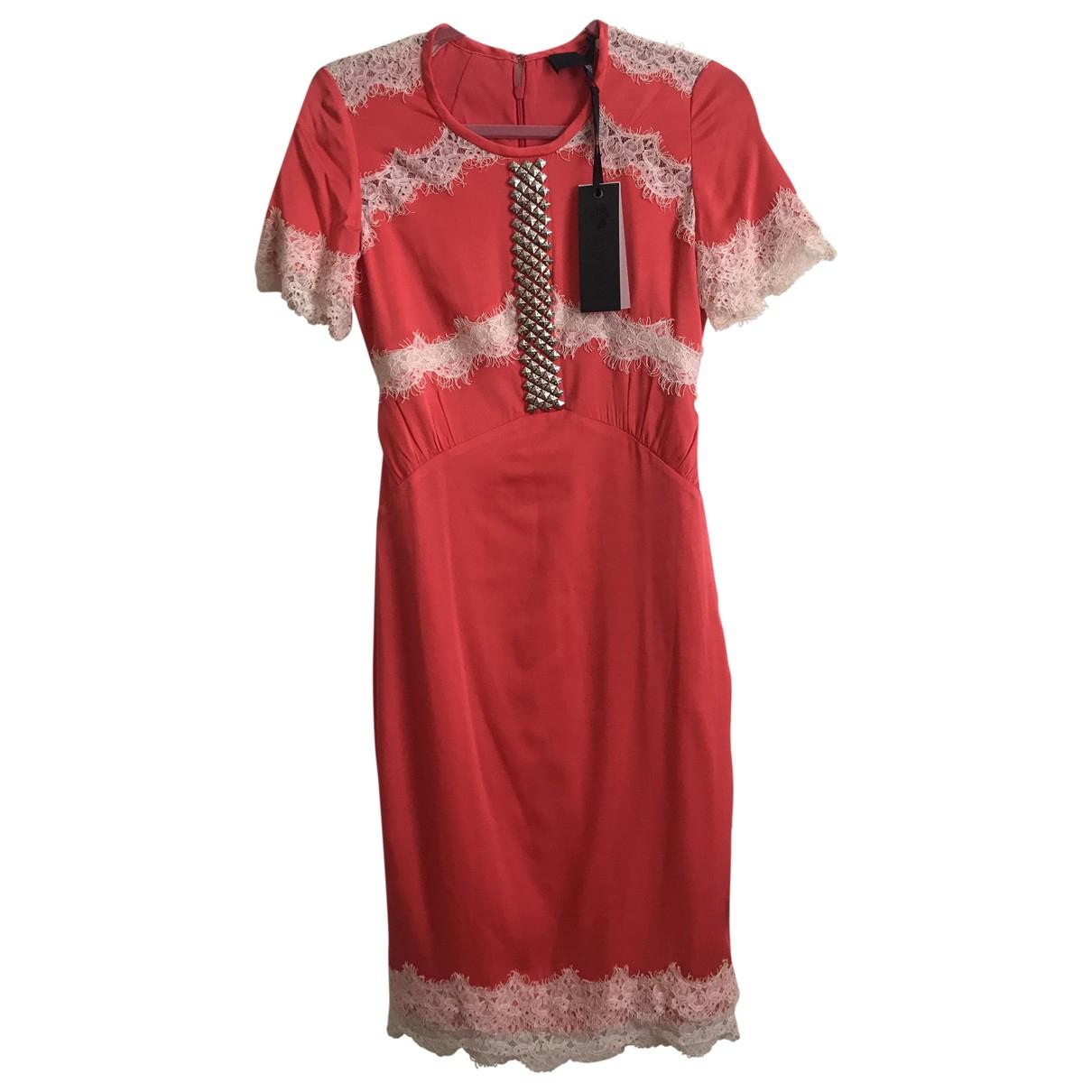 Bastyan \N Kleid in  Orange Seide