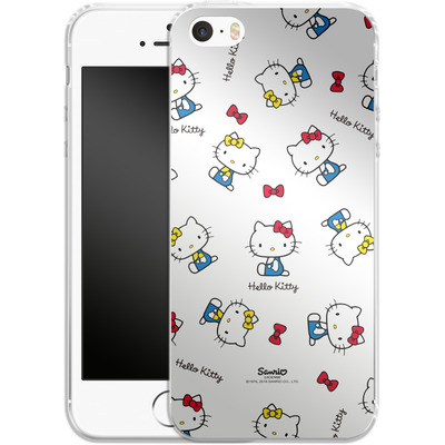 Apple iPhone 5 Silikon Handyhuelle - Hello Kitty and Mimmy Pattern von Hello Kitty