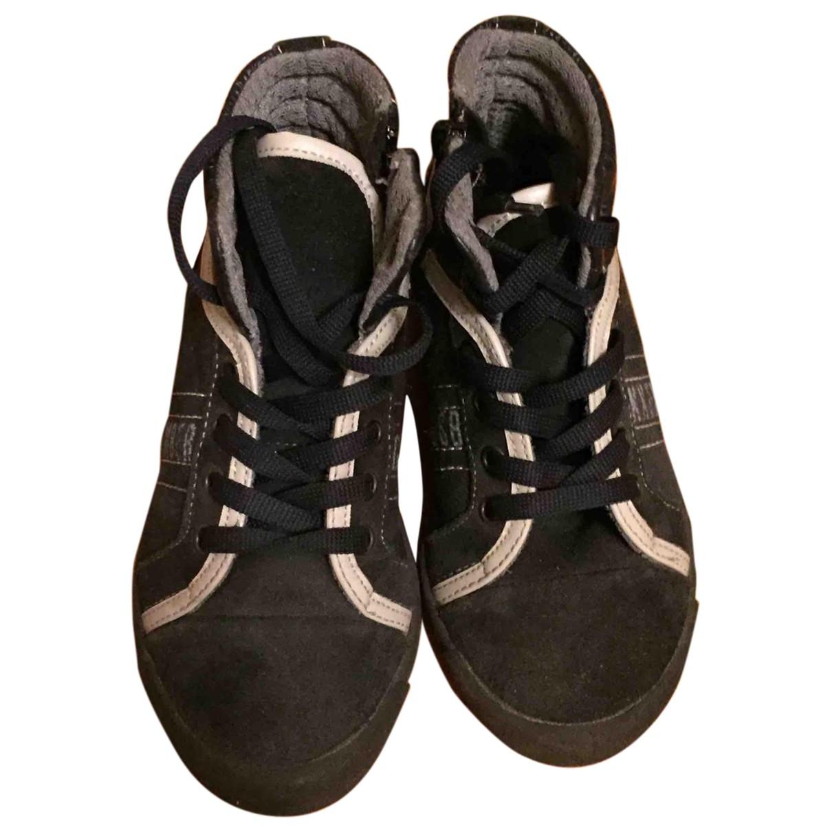 Dirk Bikkembergs \N Blue Suede Boots for Kids 29 EU