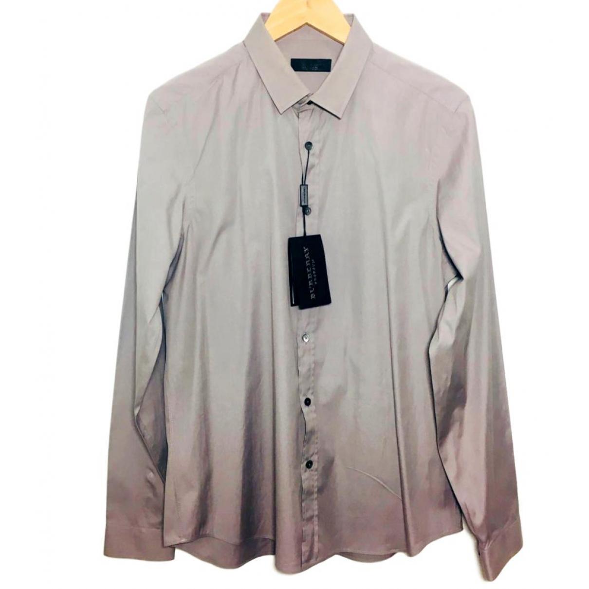 Burberry - Chemises   pour homme en coton - gris