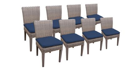 Monterey Collection MONTEREY-TKC290b-ADC-4x-C-NAVY 8 Side Chairs - Beige and Navy