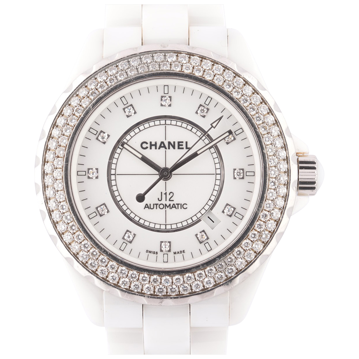 Chanel - Montre J12 Automatique pour femme en ceramique - blanc