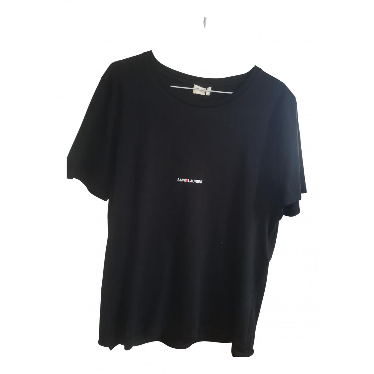 Saint Laurent N Black Cotton T-shirts for Men L International