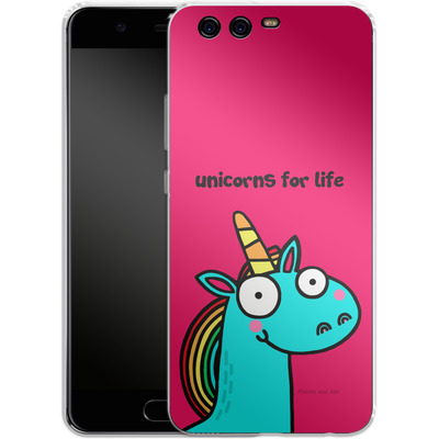 Huawei P10 Silikon Handyhuelle - Unicorns for Life von Flossy and Jim