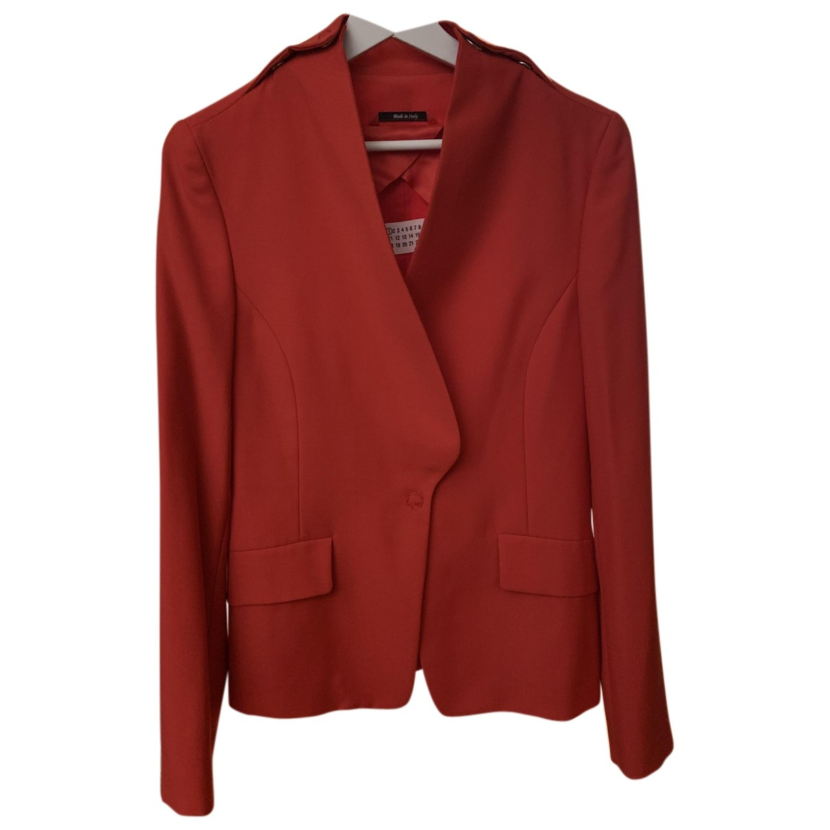 Maison Martin Margiela - Veste   pour femme en laine - rouge