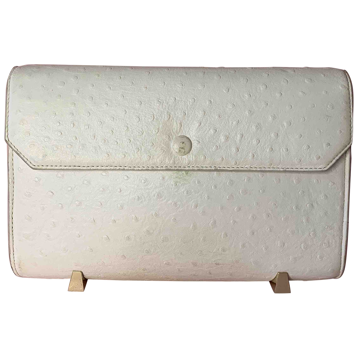 Alexander Wang \N White Ostrich Clutch bag for Women \N