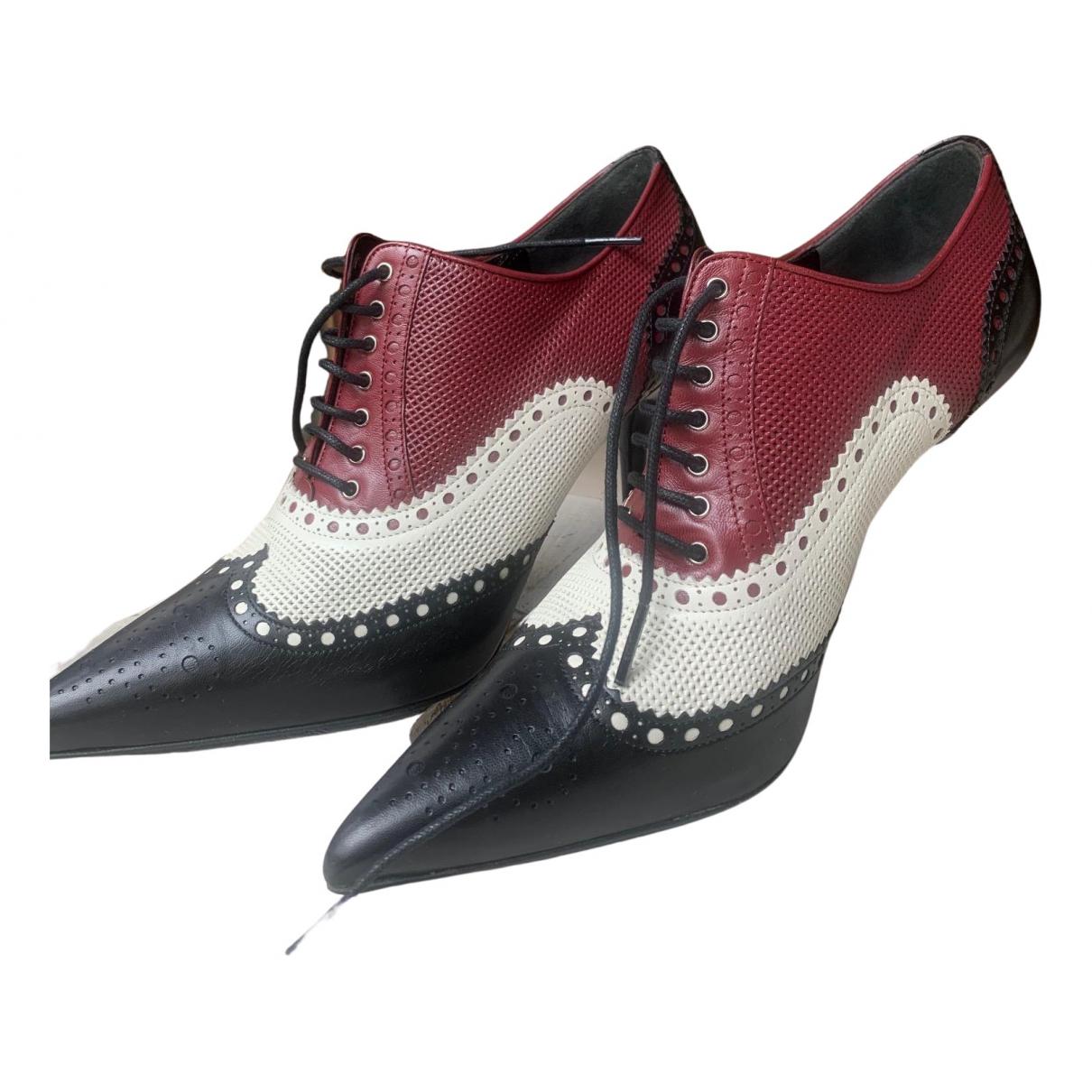 Gucci - Boots   pour femme en cuir - multicolore