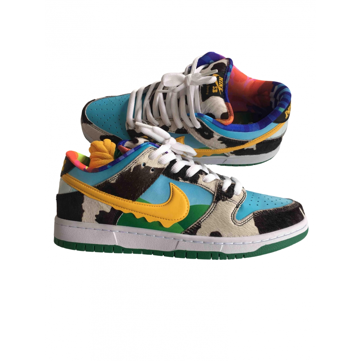 Nike N Multicolour Leather Trainers for Men 42.5 EU