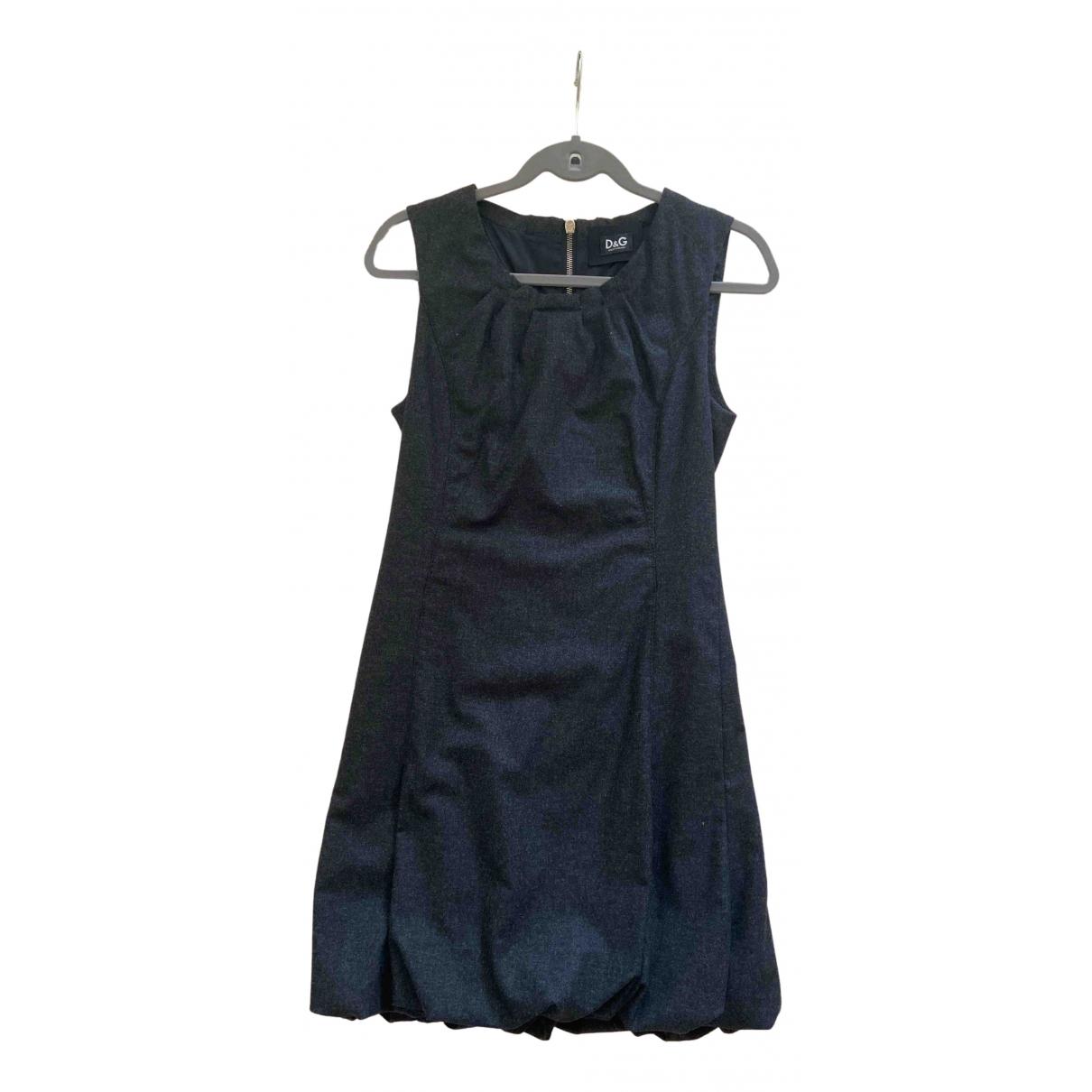 D&g N Grey Wool dress for Women 42 IT