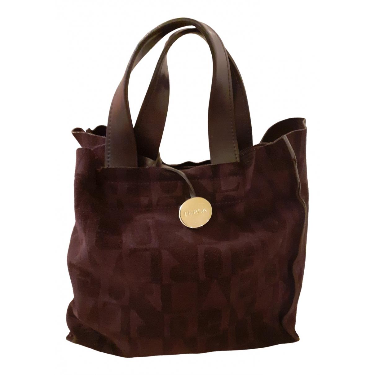 Furla \N Handtasche in  Lila Veloursleder