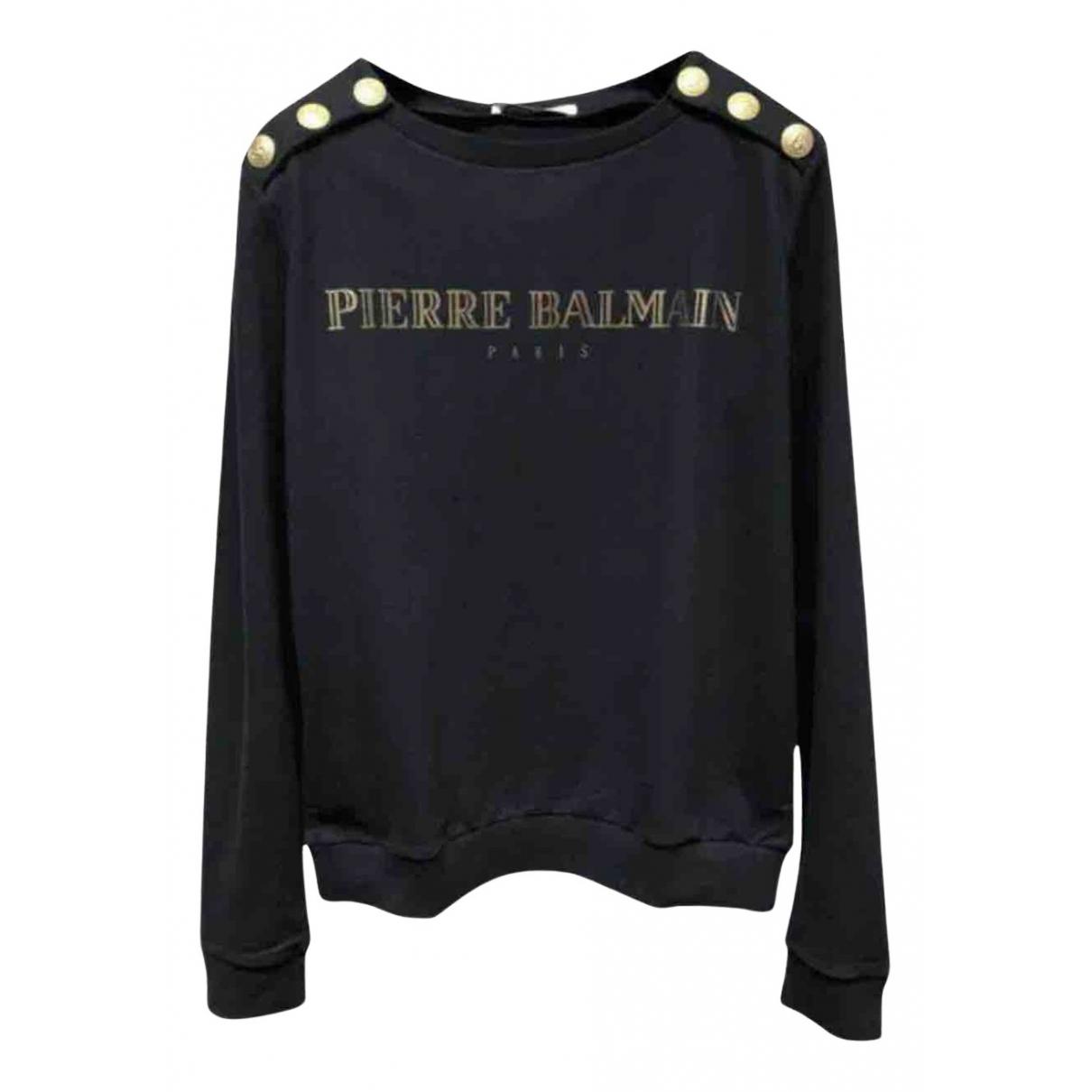Pierre Balmain N Black Cotton Knitwear for Women 40 FR