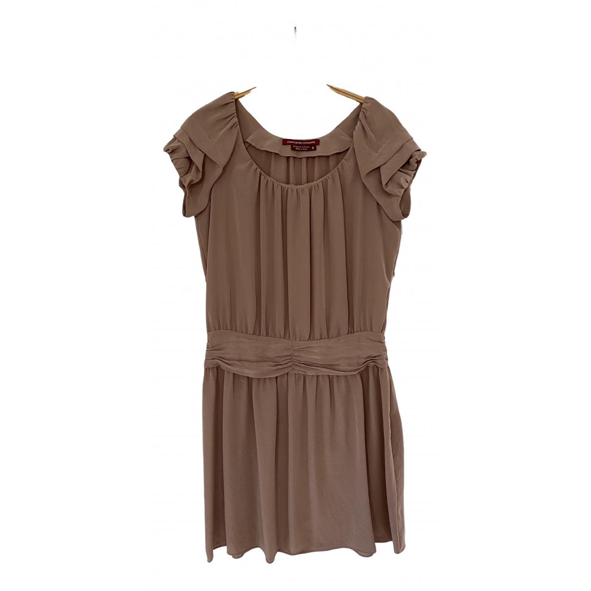 Comptoir Des Cotonniers \N Kleid in  Kamel Seide
