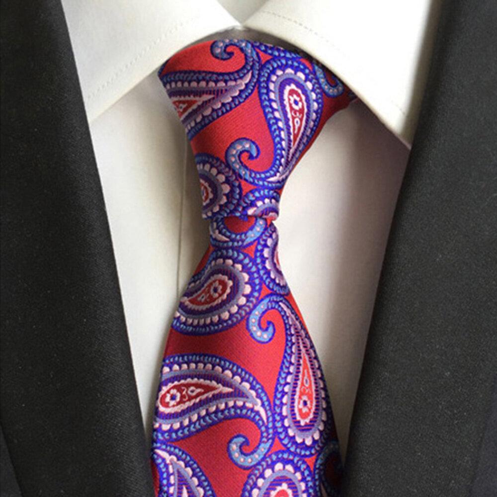 8*145CM Casual Dress Professional Business Men's Tie Polyester Silk Jacquard Tie