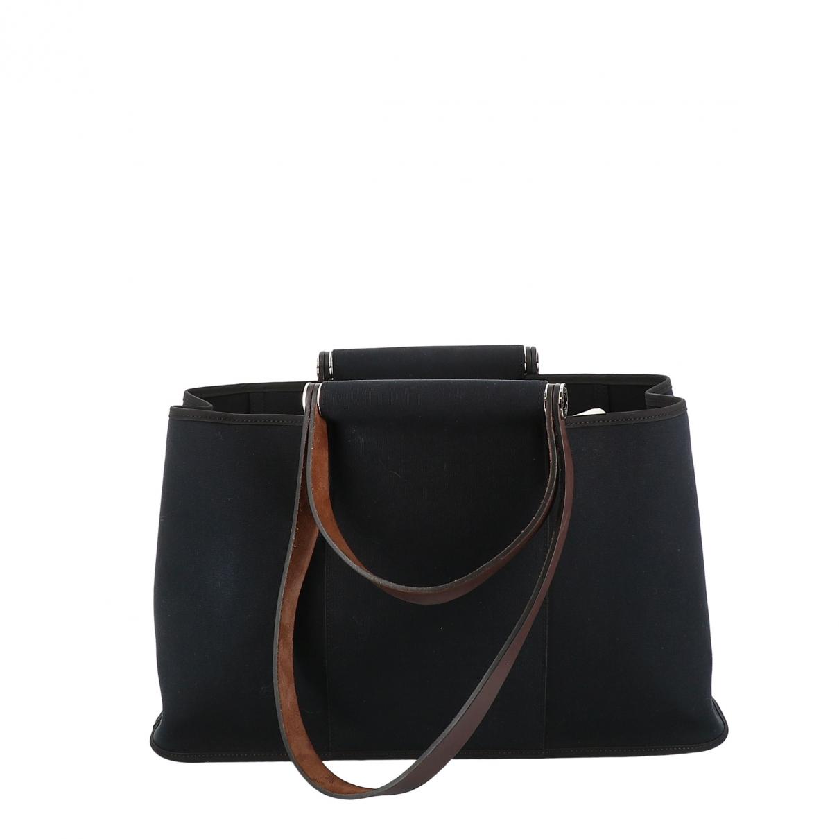 Hermès \N Navy Cotton handbag for Women \N