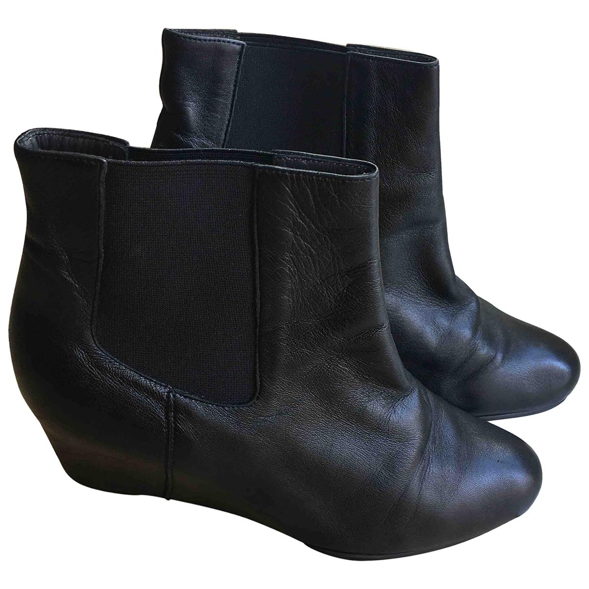 Stuart Weitzman - Boots   pour femme en cuir - noir