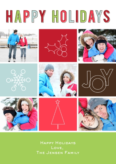 Christmas Photo Cards 5x7 Cards, Premium Cardstock 120lb, Card & Stationery -Symbolic Holiday