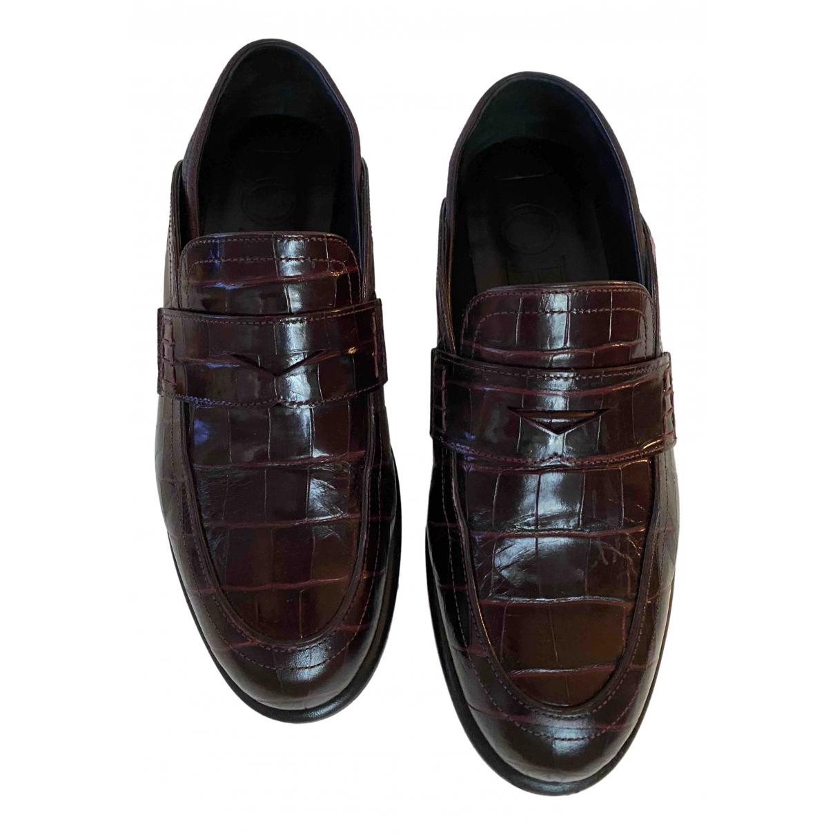 Loewe \N Leather Flats for Women 38 EU
