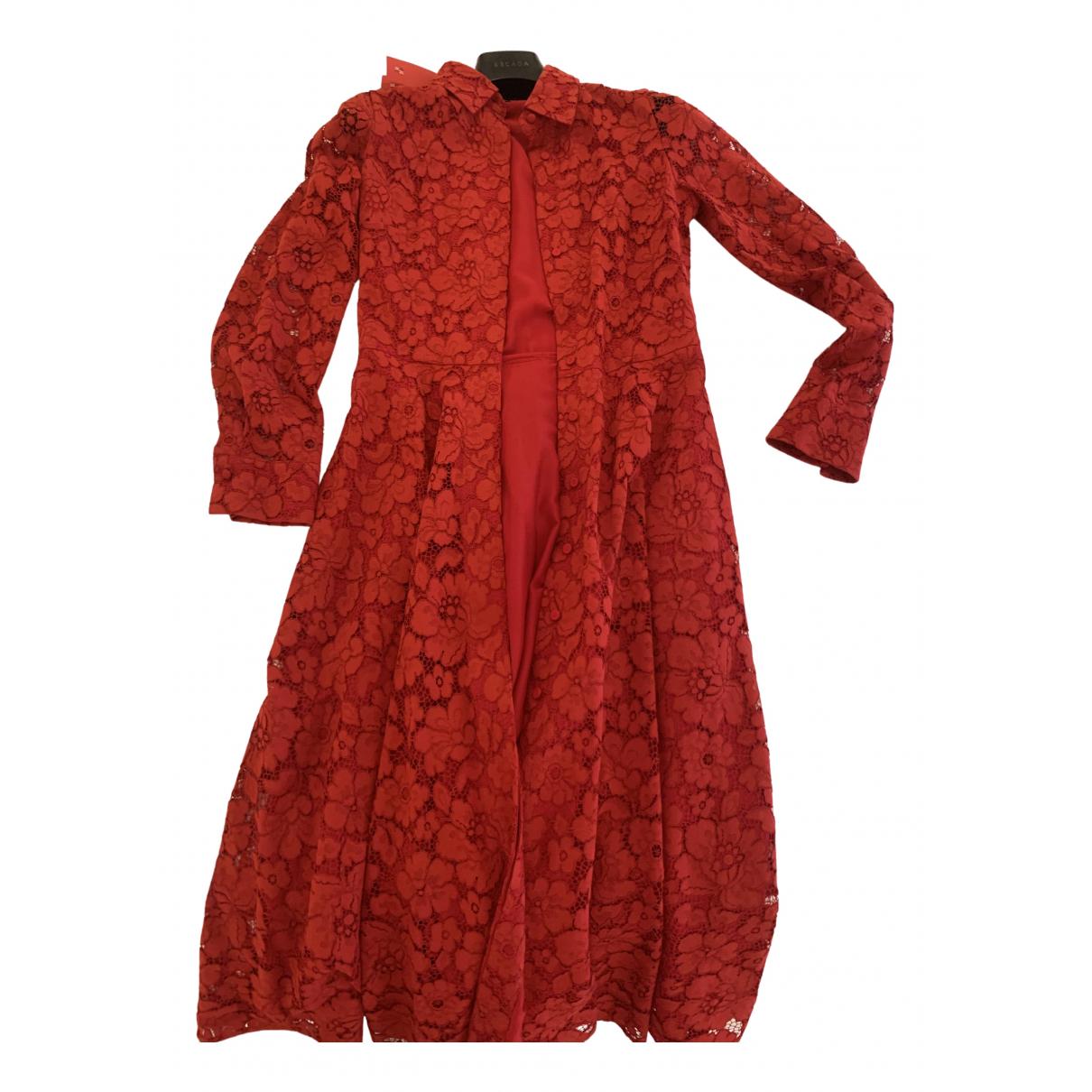 Carolina Herrera \N Red Lace dress for Women 0 0-5