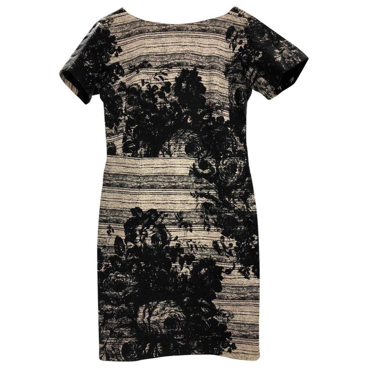 Non Signé / Unsigned \N Multicolour Cotton - elasthane dress for Women 12 UK