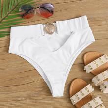 Bikini Hoschen mit Ausschnitt und hoher Taille