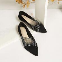 Zapatillas con diamante de imitacion