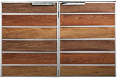 Madera 30 Integrated North American Stainless Steel & Teak Double Access