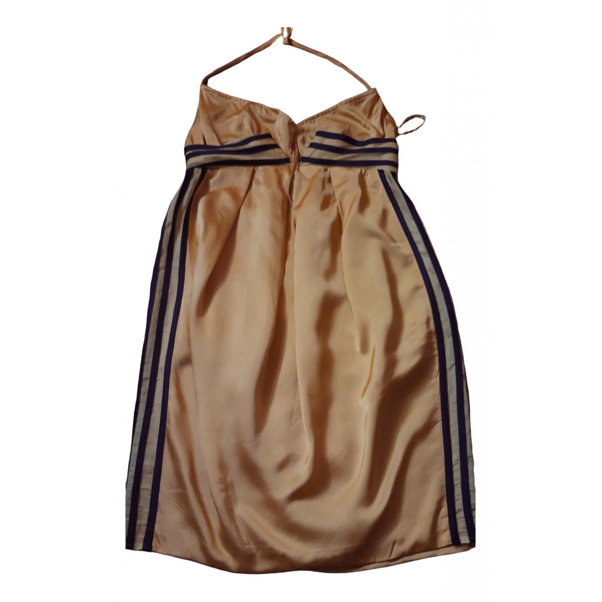 Jean Paul Gaultier \N Kleid in  Gelb Seide