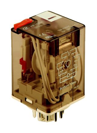 Hongfa Europe GMBH , 120V ac Coil Non-Latching Relay 3PDT, 10A Switching Current Plug In, 3 Pole