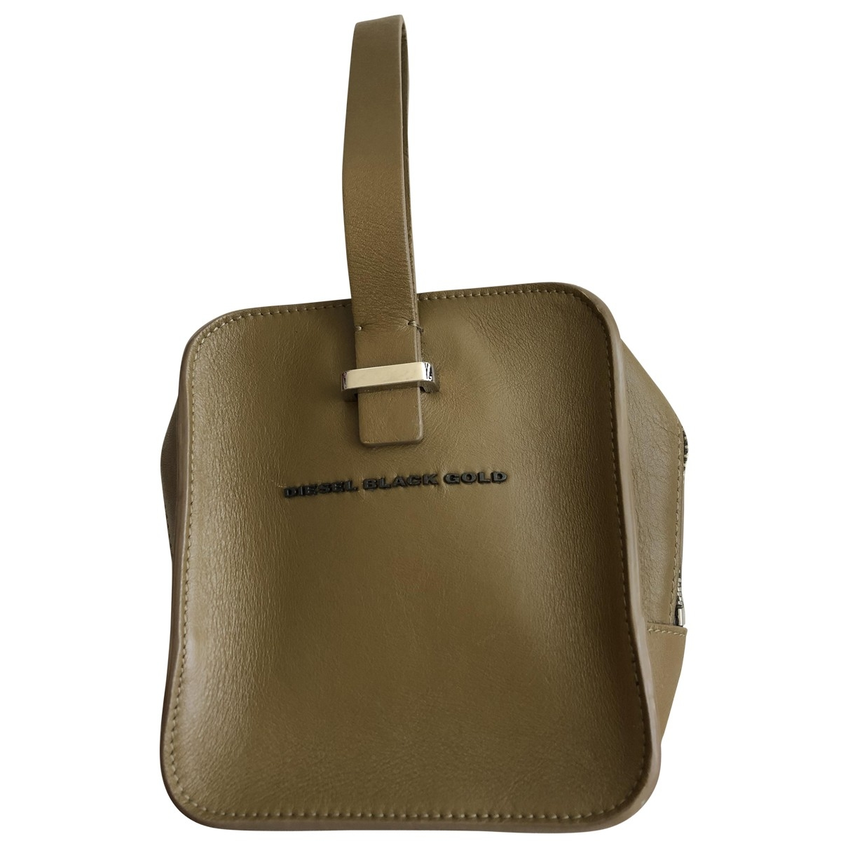 Diesel Black Gold \N Clutch in  Khaki Leinen