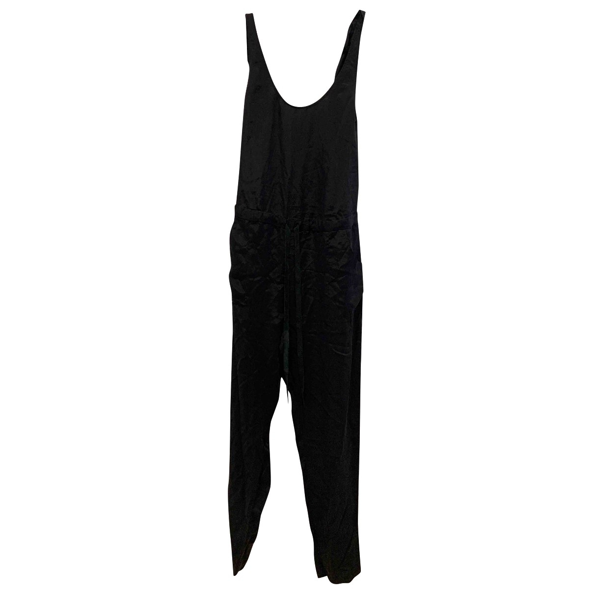 Rebecca Taylor \N Black Leather jumpsuit for Women 6 US
