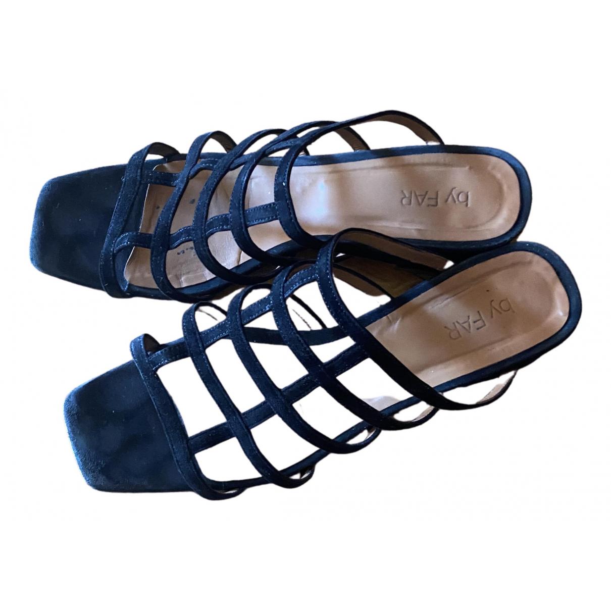 By Far \N Black Suede Sandals for Women 39 IT