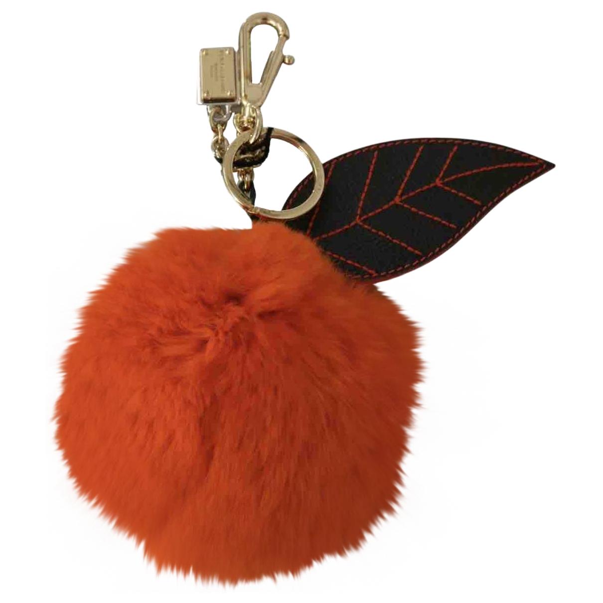 Dolce & Gabbana - Bijoux de sac   pour femme en lapin - orange