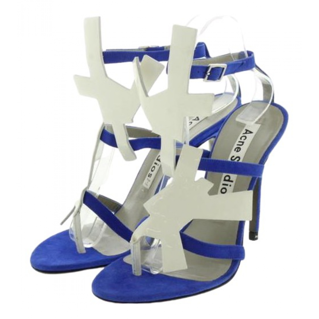 Acne Studios \N Blue Suede Sandals for Women 37 EU