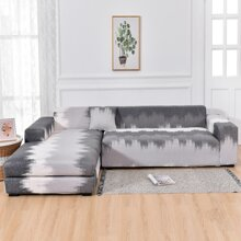 Graphic Print Stretchy Sofa Cover Without Cushion