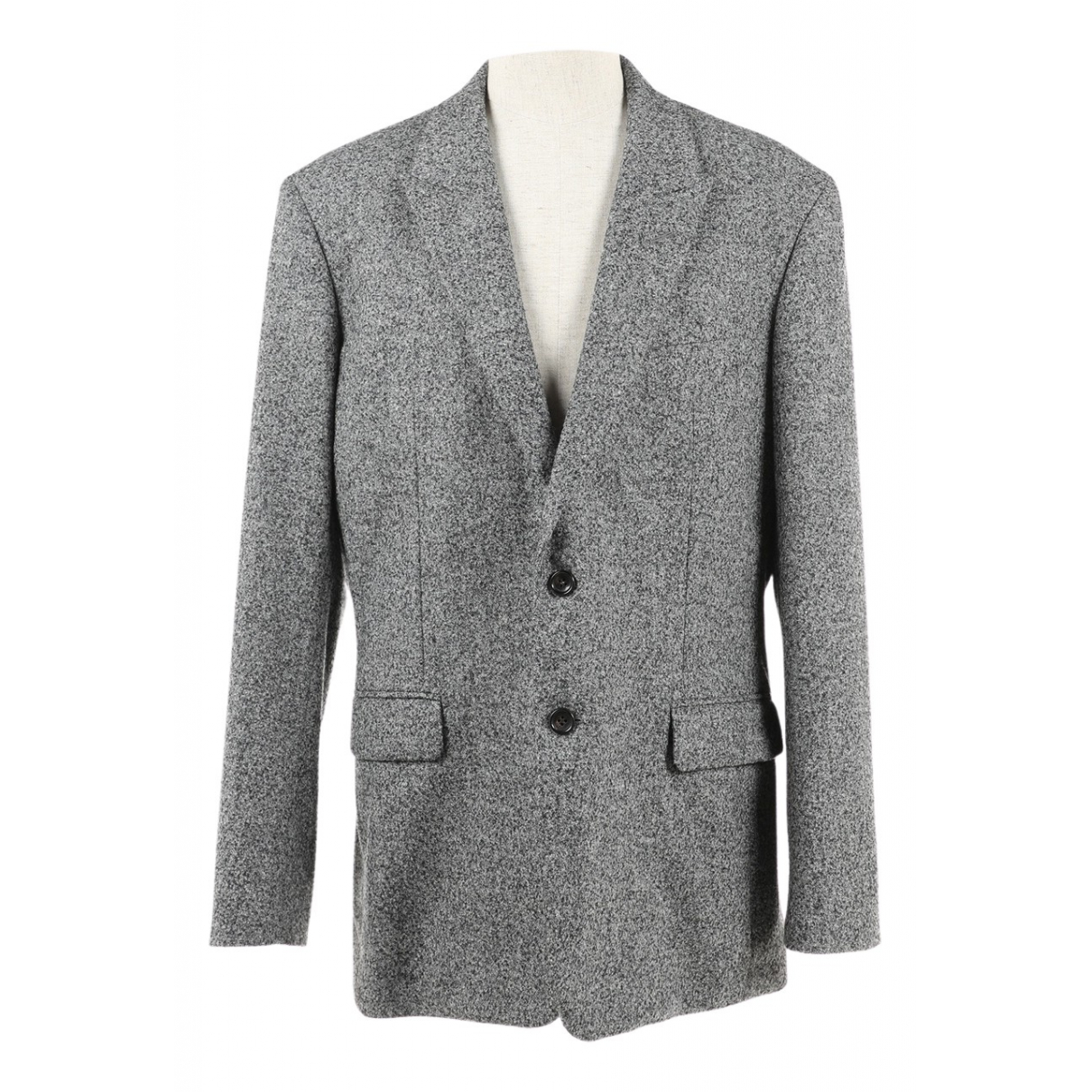 Non Signé / Unsigned \N Grey Wool jacket  for Men 42 UK - US