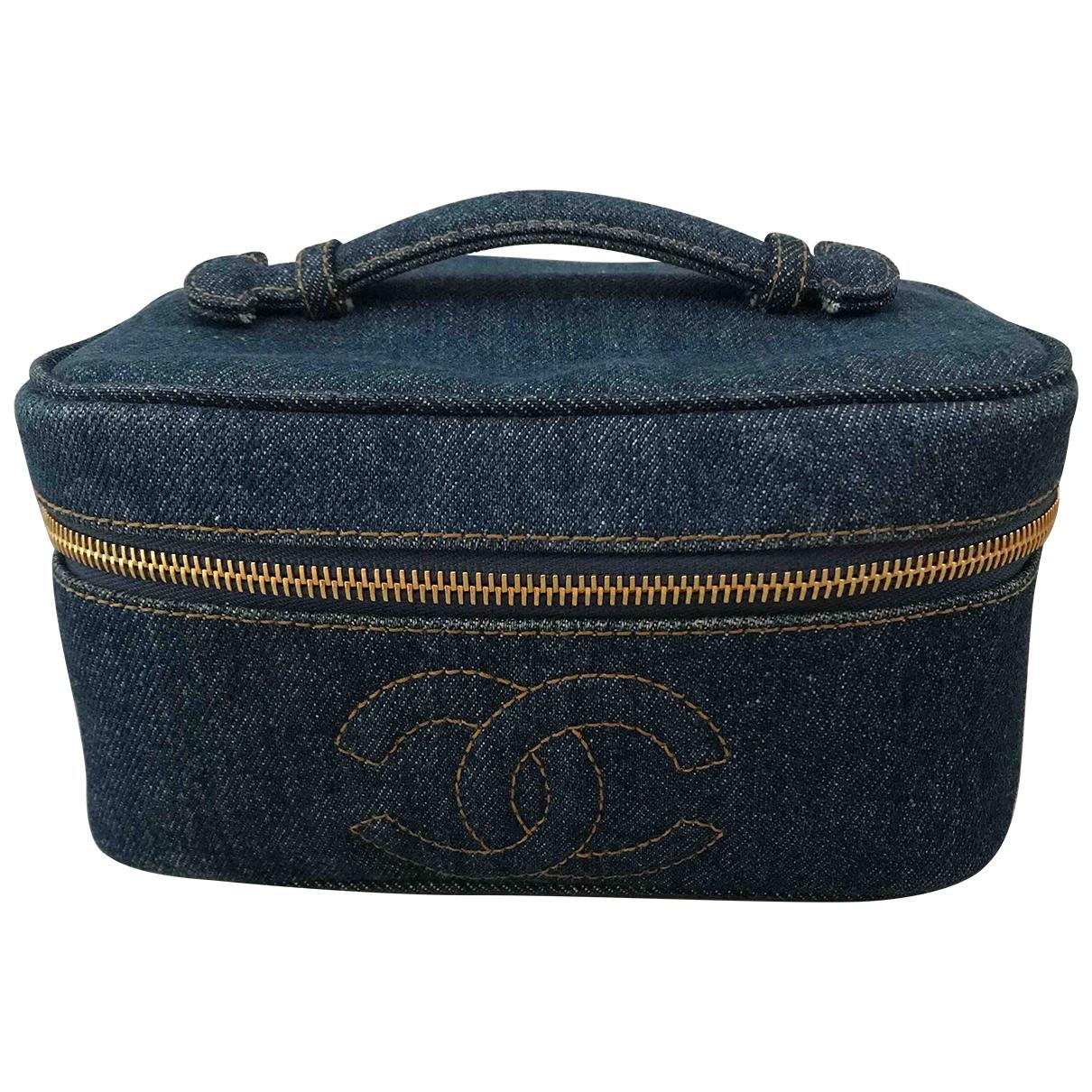 Chanel \N Reisetasche in  Blau Denim - Jeans