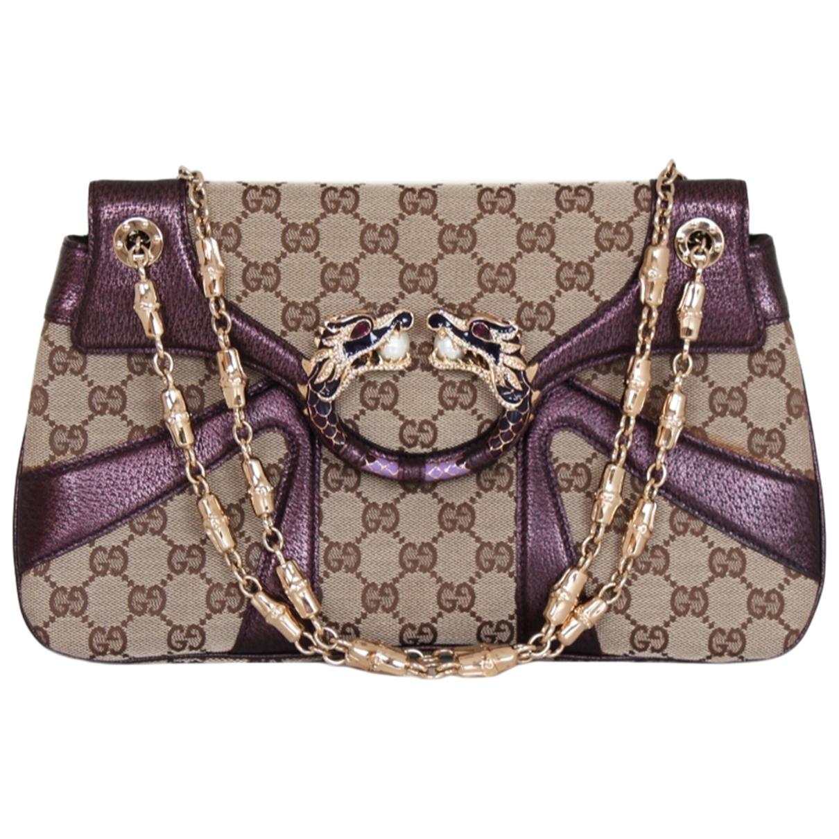 Gucci - Pochette   pour femme en toile - violet