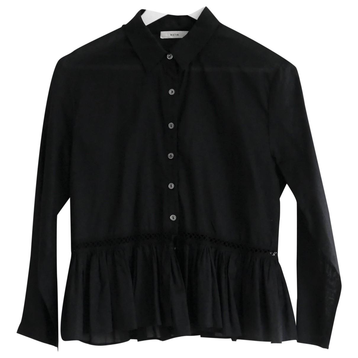 Matin \N Black Cotton  top for Women 8 UK