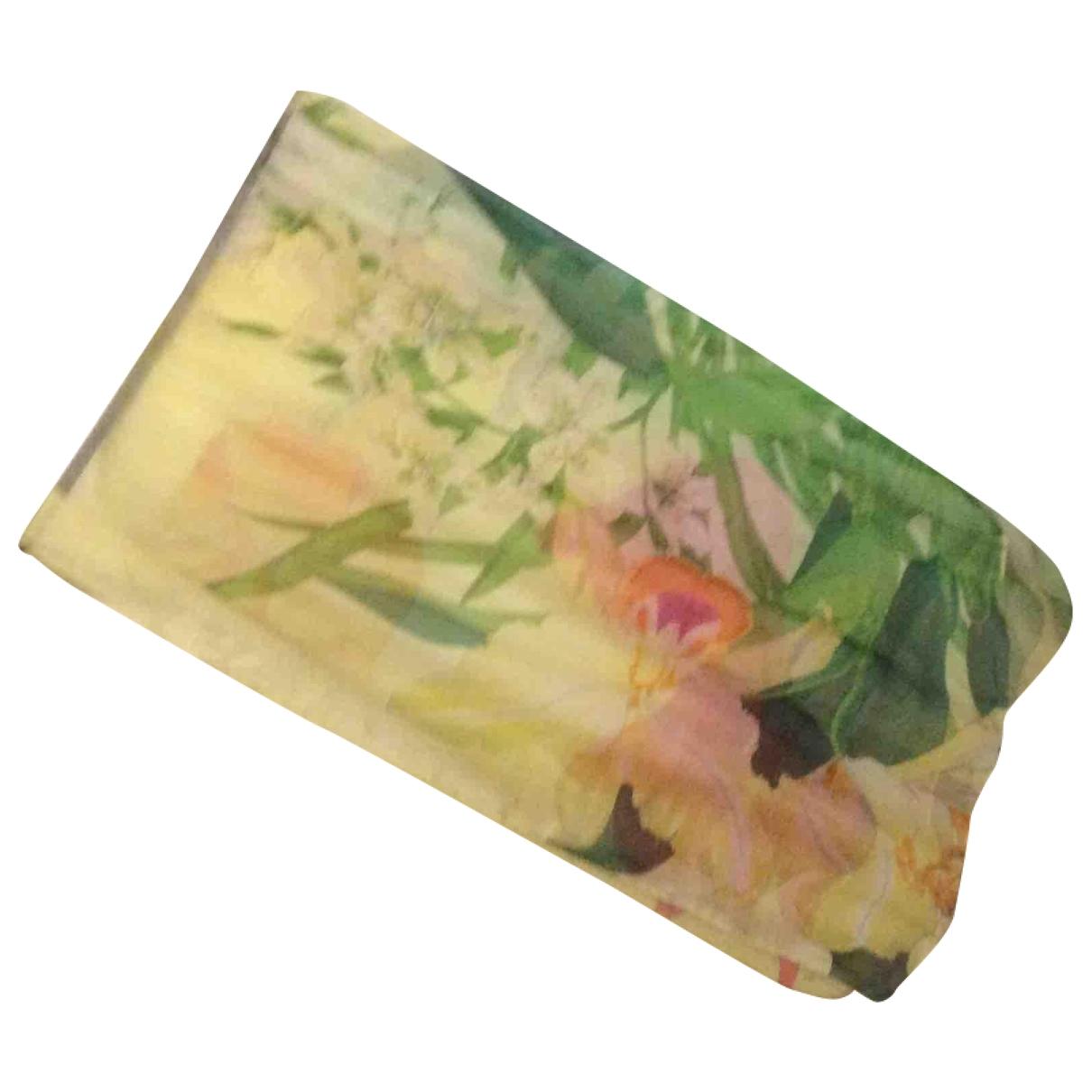 Kenzo - Foulard   pour femme en soie - jaune