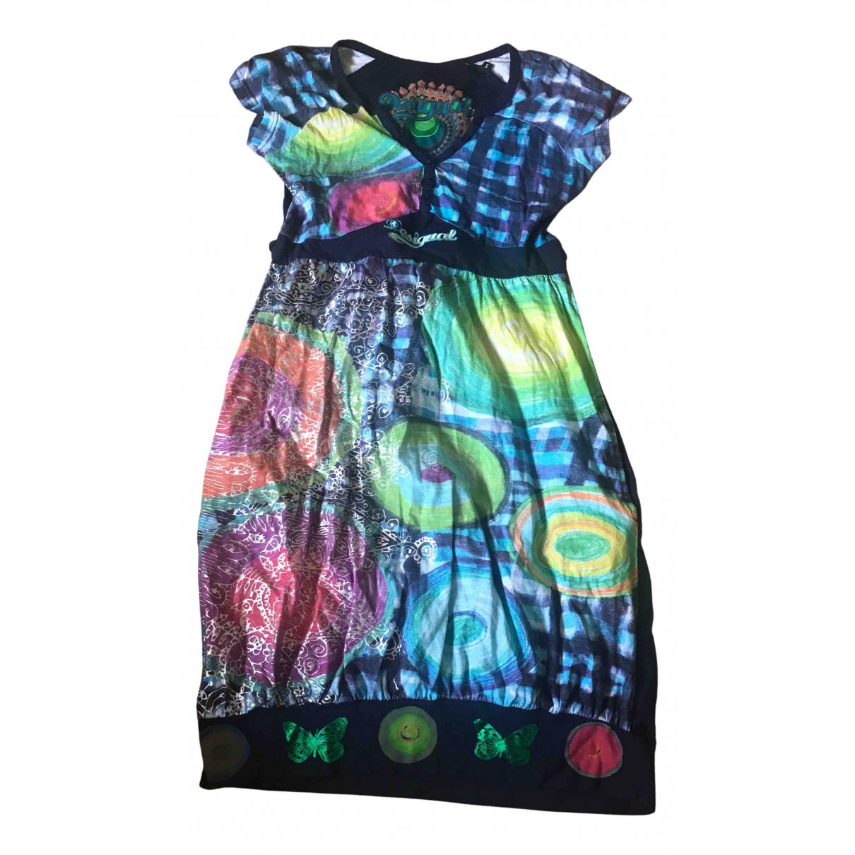 Desigual \N Kleid in  Blau Baumwolle