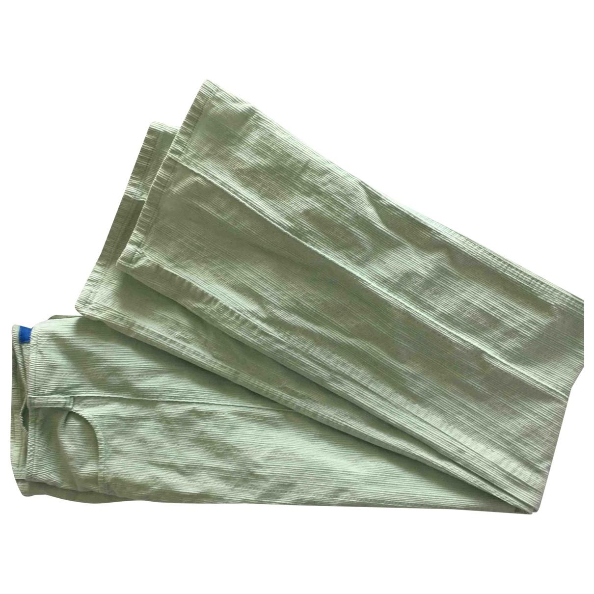 Escada \N Green Cotton Trousers for Women 38 FR