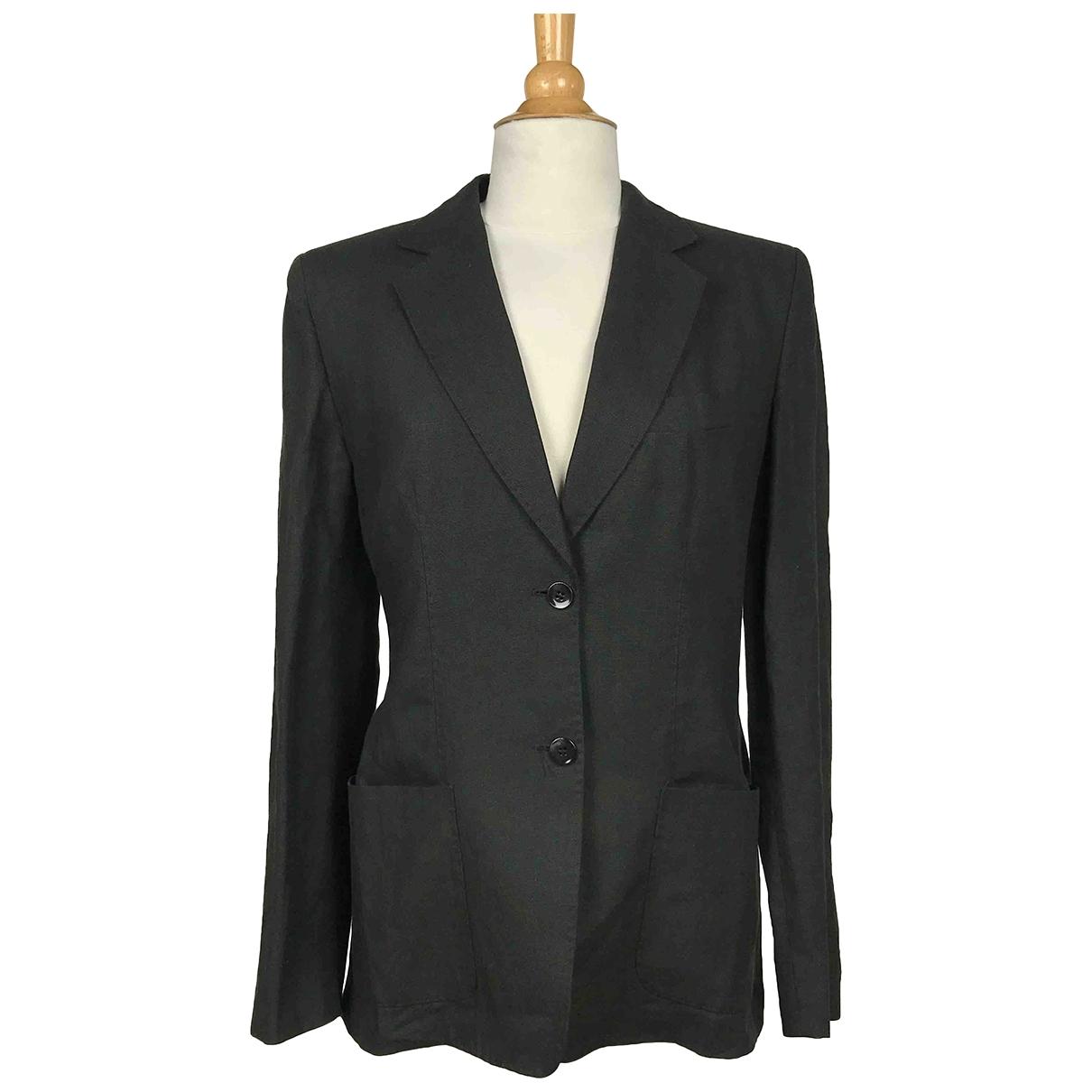 Max Mara - Veste   pour femme en lin - noir