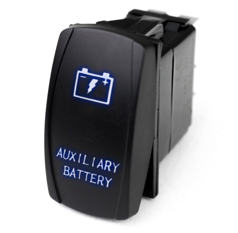 Race Sport Lighting RSLE15B LED Rocker Switch with Blue LED Radiance (Auxiliary Battery)